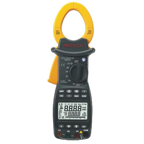 Цифрови амперклещи за трифазно измерване с RS232 интерфейс MS2203 - 1