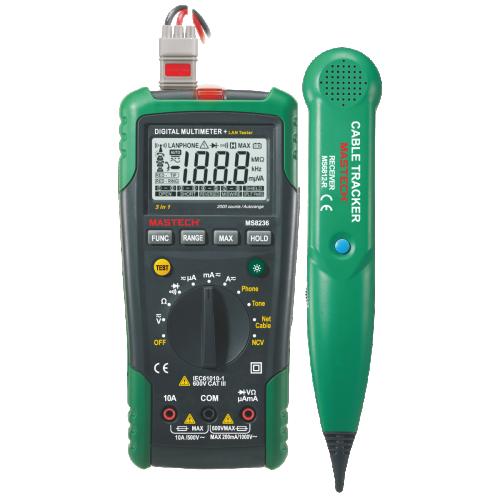 Digital Multimeter With Lan/Phone/Tone Tester MS8236 - 1