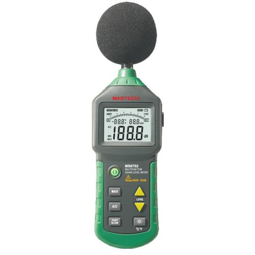 Уред за измерване нивото на звука и термометър MS6702 - 1